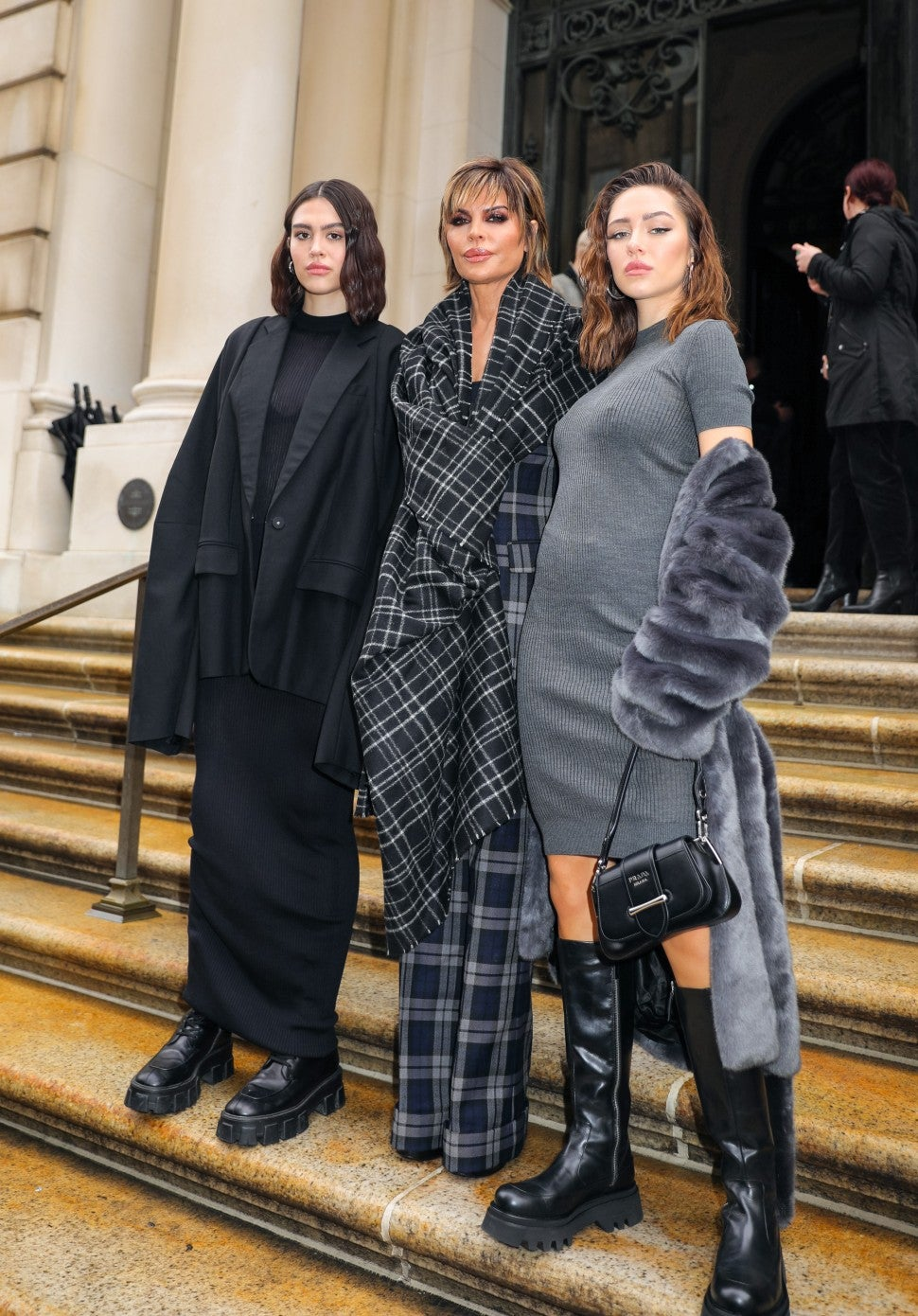 Amelia Gray Hamlin, Lisa Rinna and Delilah Belle Hamlin at nyfw