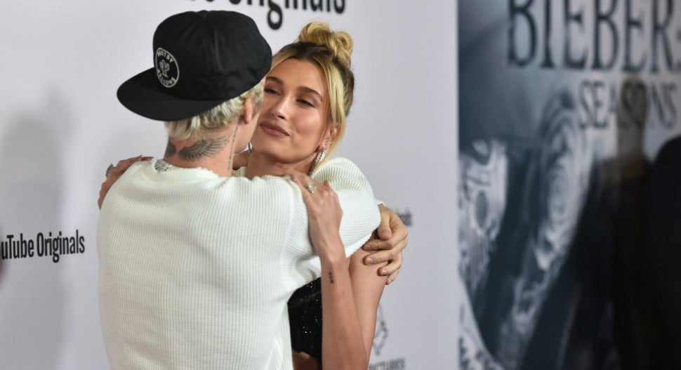 Justin Bieber and Hailey Bieber at Seasons premiere