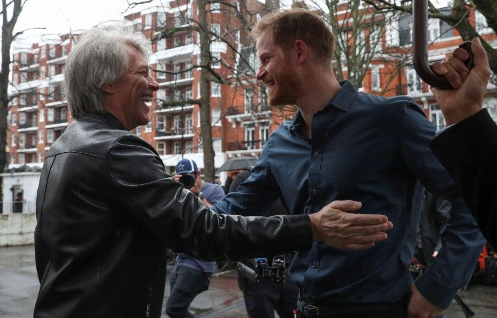 Jon Bon Jovi and Prince Harry
