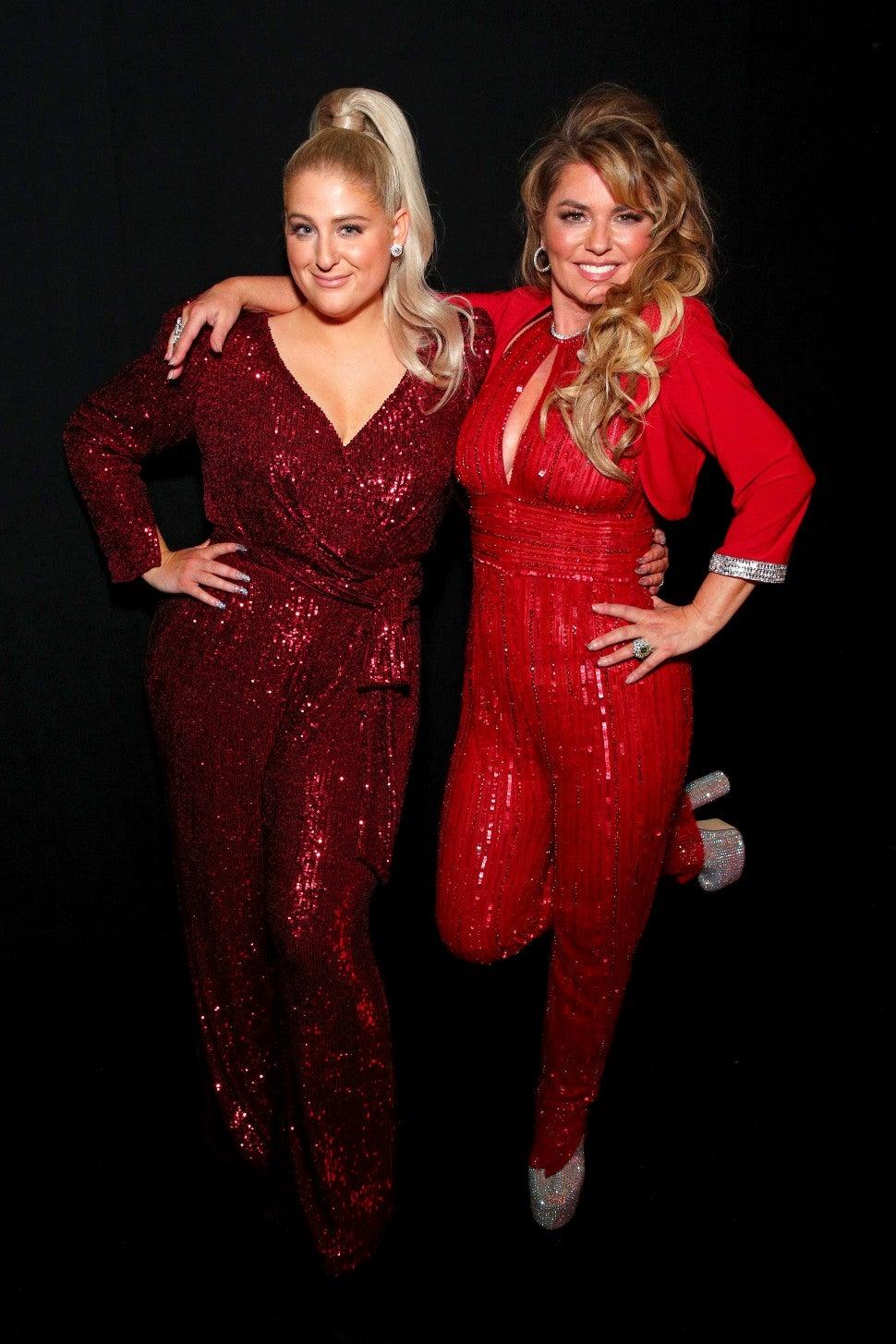 Meghan Trainor and Shania Twain