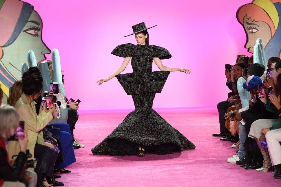 Coco Rocha walking Christian Siriano F/W 2020 fashion show