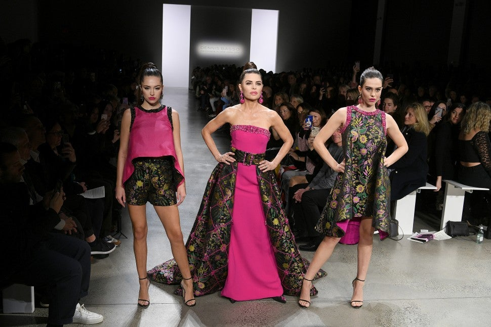 Delilah Belle Hamlin, Lisa Rinna and Amelia Gray Hamlin walk Dennis Basso F/W 2020 fashion show