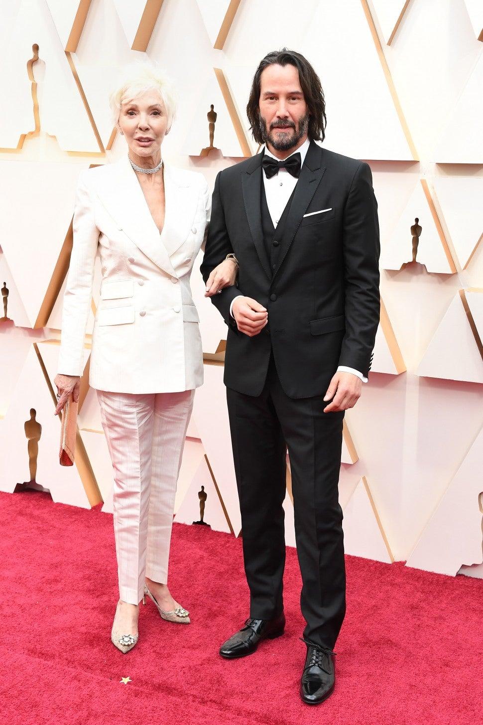 Keanu Reeves and Patricia Taylor at 2020 Oscars