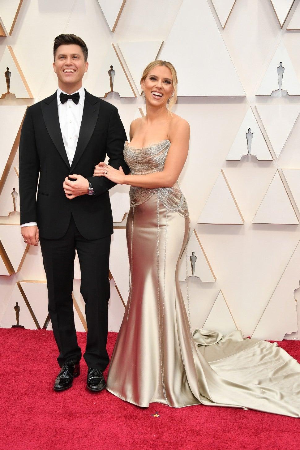 Scarlett Johansson and Colin Jost at 2020 Oscars