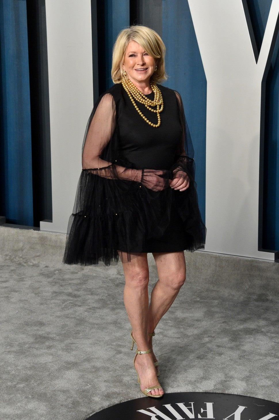 Martha Stewart at the 2020 Vanity Fair Oscar Party
