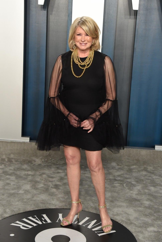 Martha Stewart at 2020 vf party