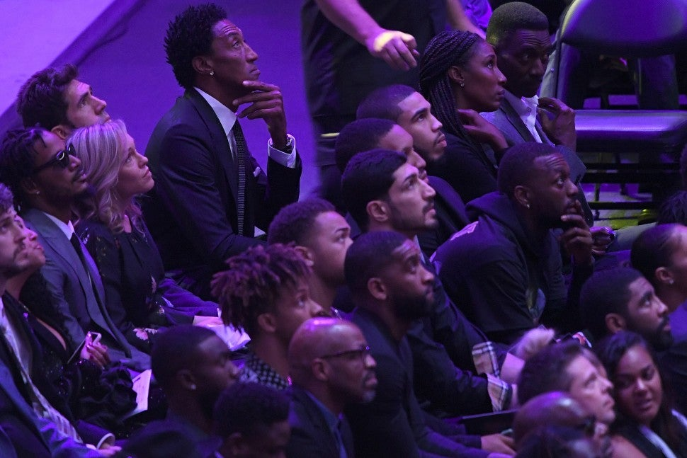 Scottie Pippen at The Celebration of Life for Kobe & Gianna Bryant