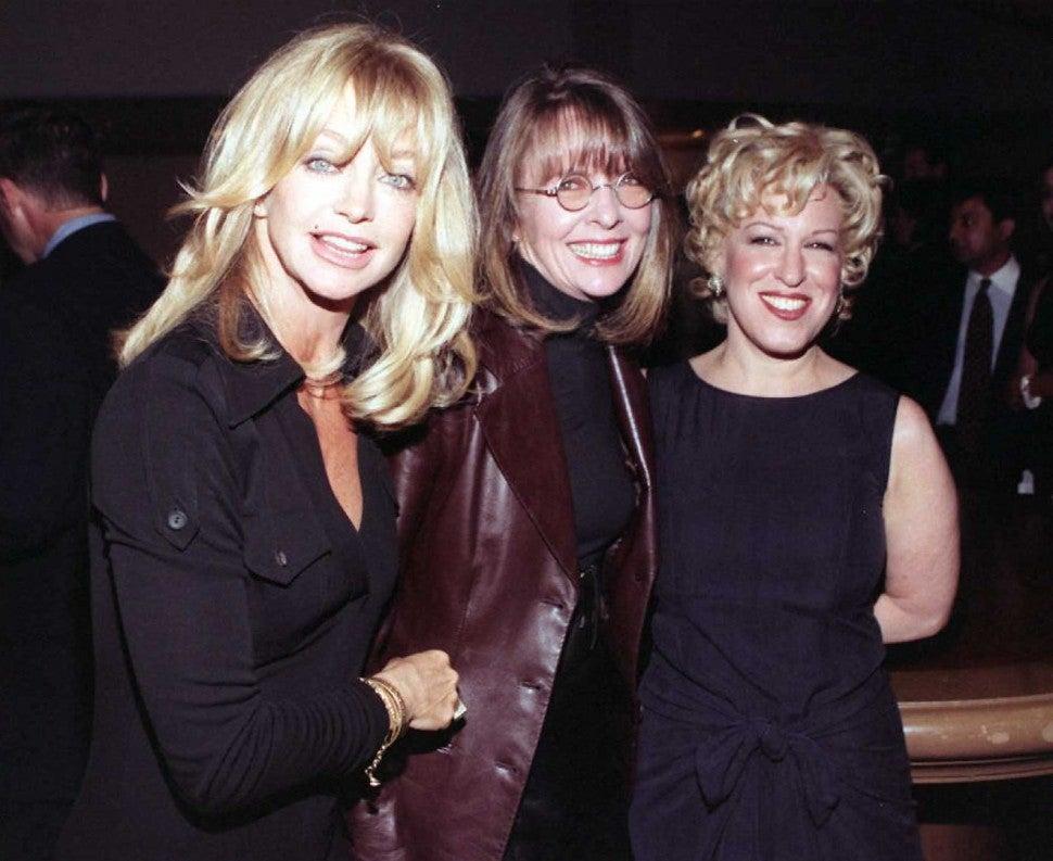 Goldie Hawn, Diane Keaton, Bette Midler