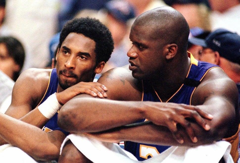 Kobe Bryant and Shaq O'Neal
