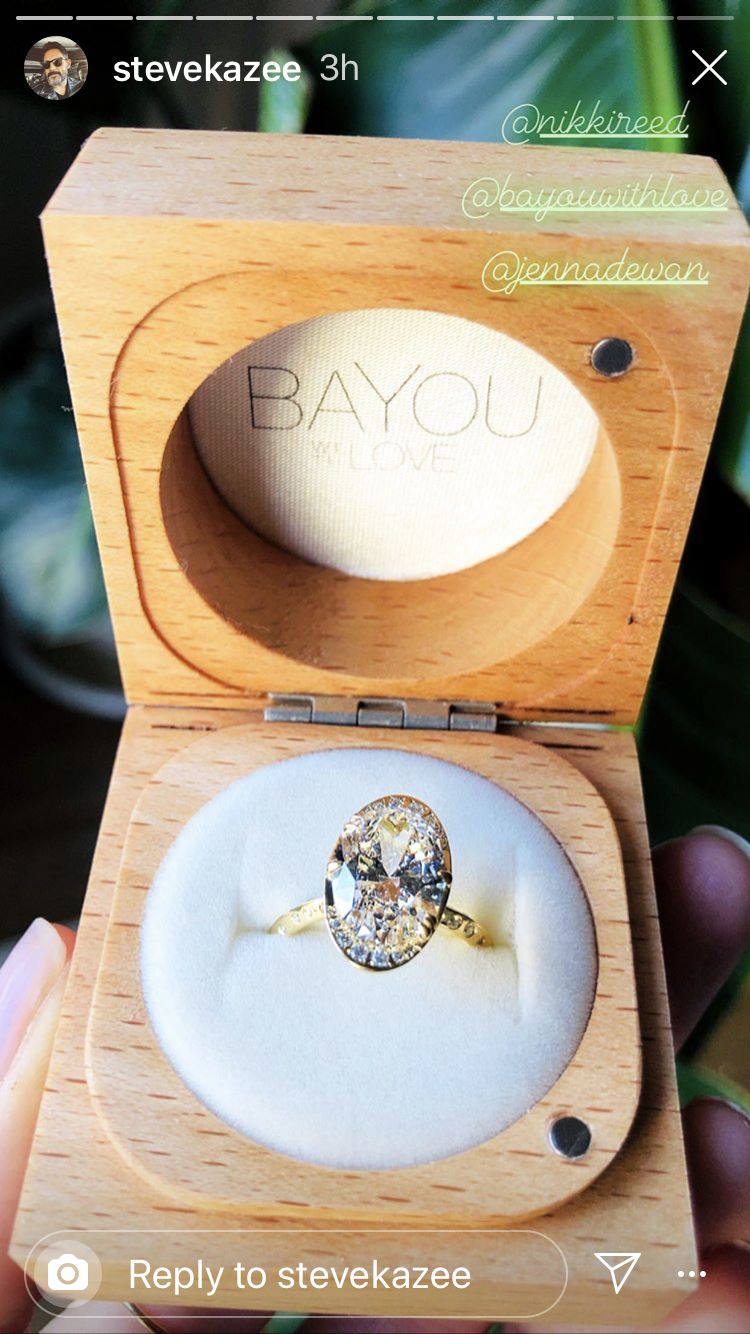 Steve Kazee Engagement RIng