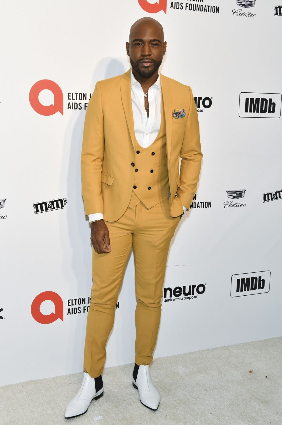 Karamo Brown attends 2020 Oscars party.