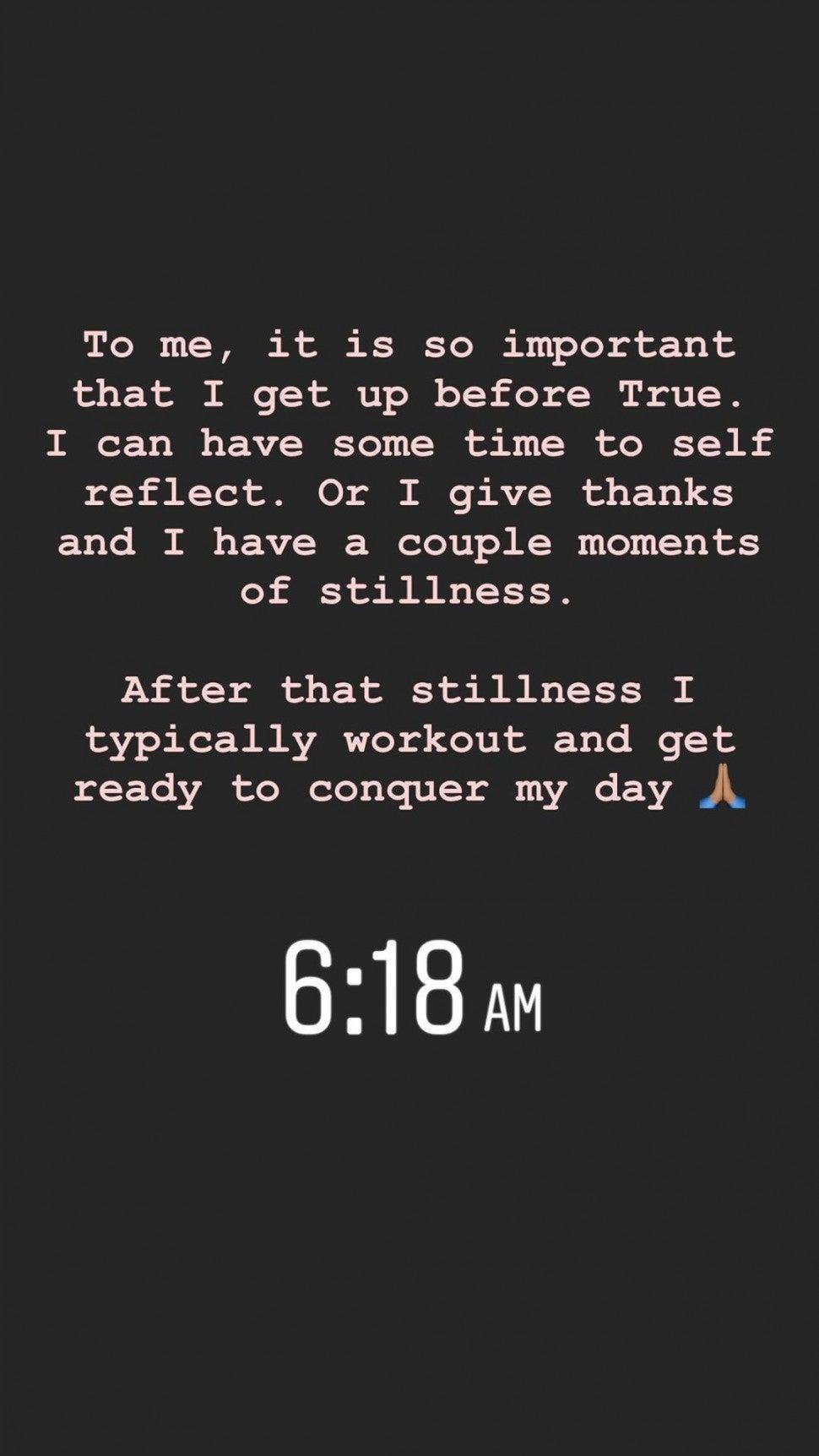 Khloe Kardashian's message