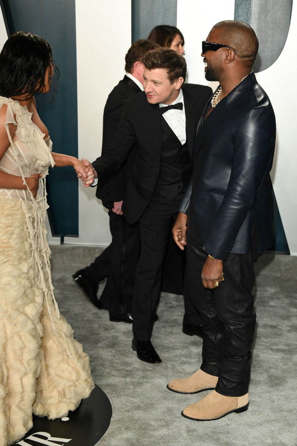 Kim Kardashian, Kanye West, Jeremy Renner