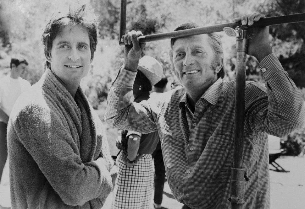 Kirk Douglas and son Michael Douglas