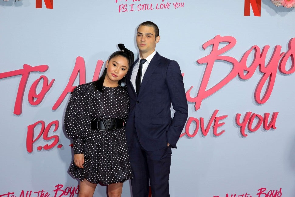 Lana Condor and Noah Centineo attend the Premiere of Netflix's