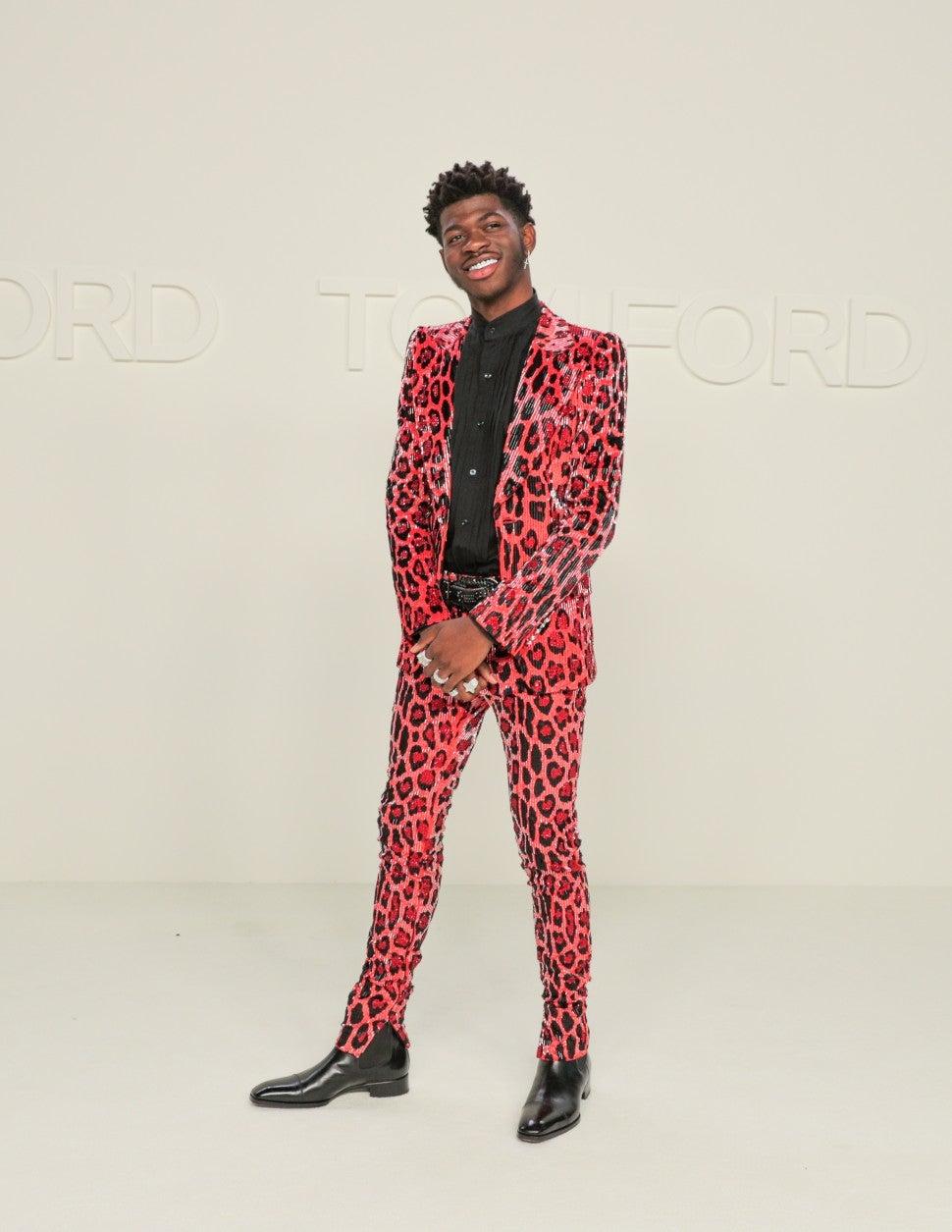 Lil Nas X at Tom Ford F/W 2020 fashion show