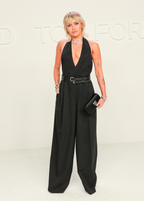 Miley Cyrus at Tom Ford F/W 2020 fashion show
