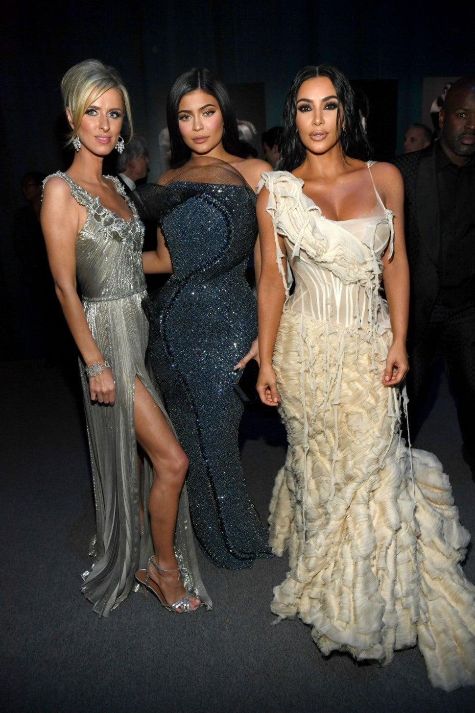 Nicky Hilton, Kylie Jenner, Kim Kardashian