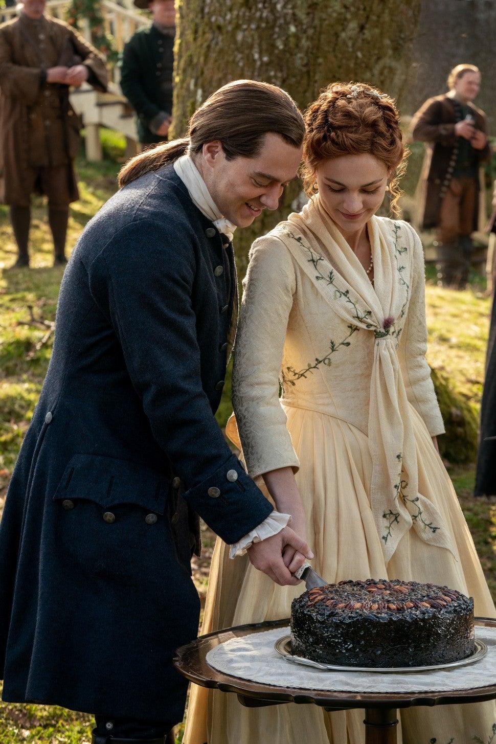 Outlander Season 5 Wedding, Bree and Roger