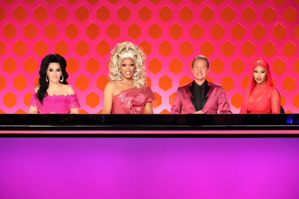 Nicki Minaj joins the judges' table for the season 12 premiere of 'RuPaul's Drag Race.'