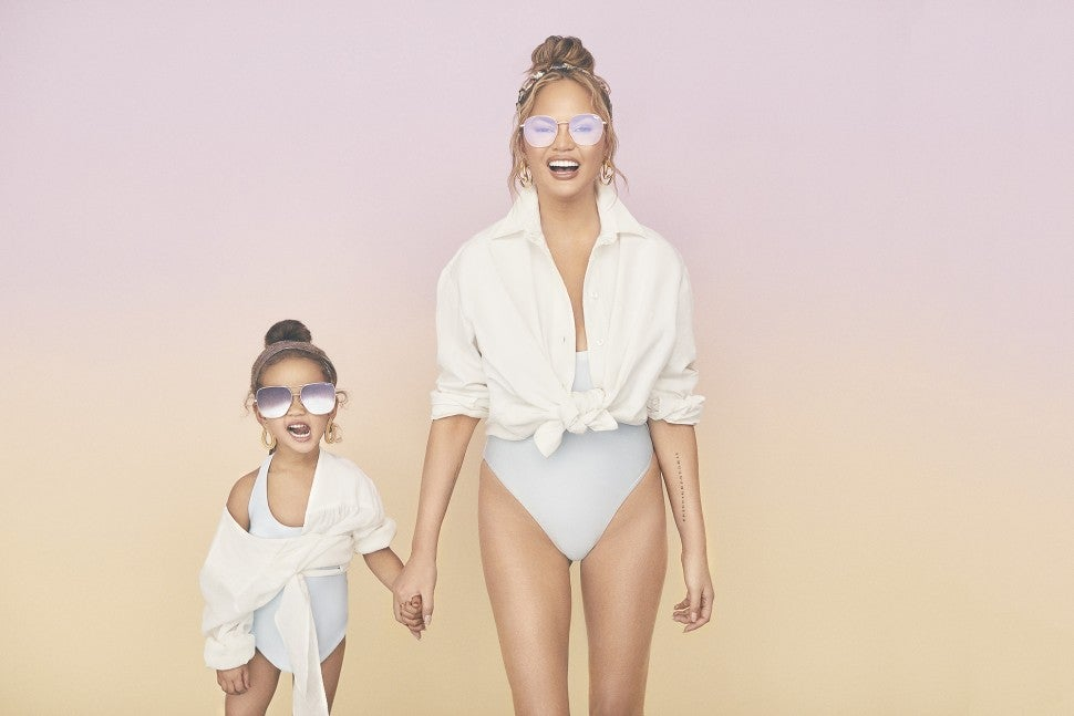 Chrissy Teigen x Quay campaign with Luna