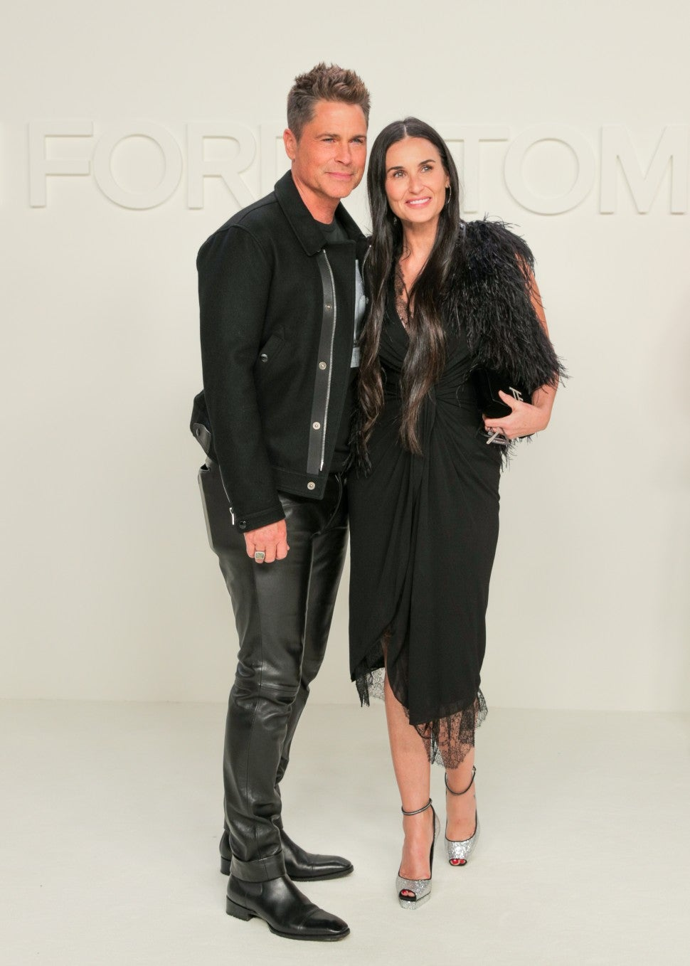 Rob Lowe and Demi Moore at Tom Ford F/W 2020 fashion show