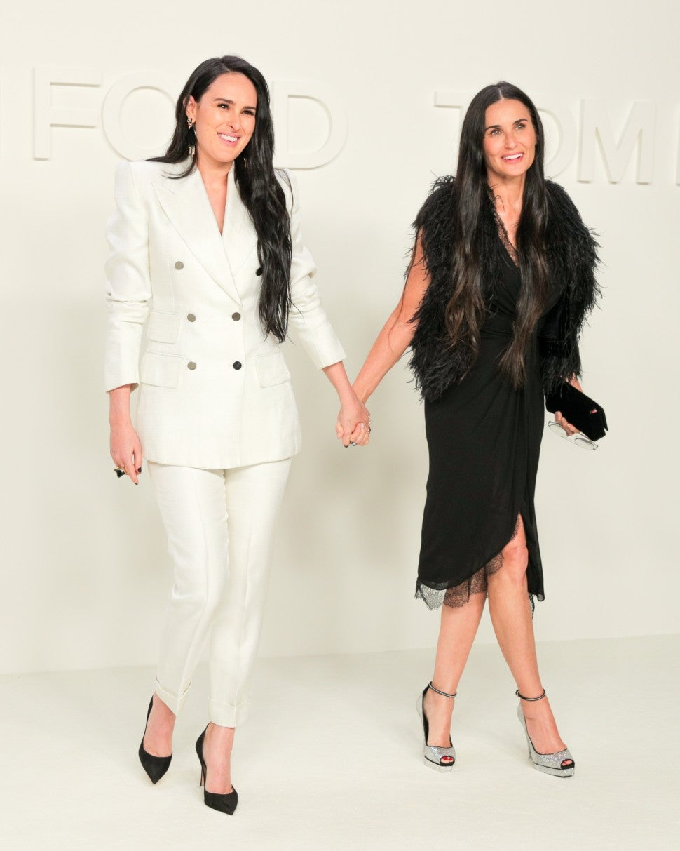 Rumer Willis and Demi Moore at Tom Ford F/W 2020 fashion show