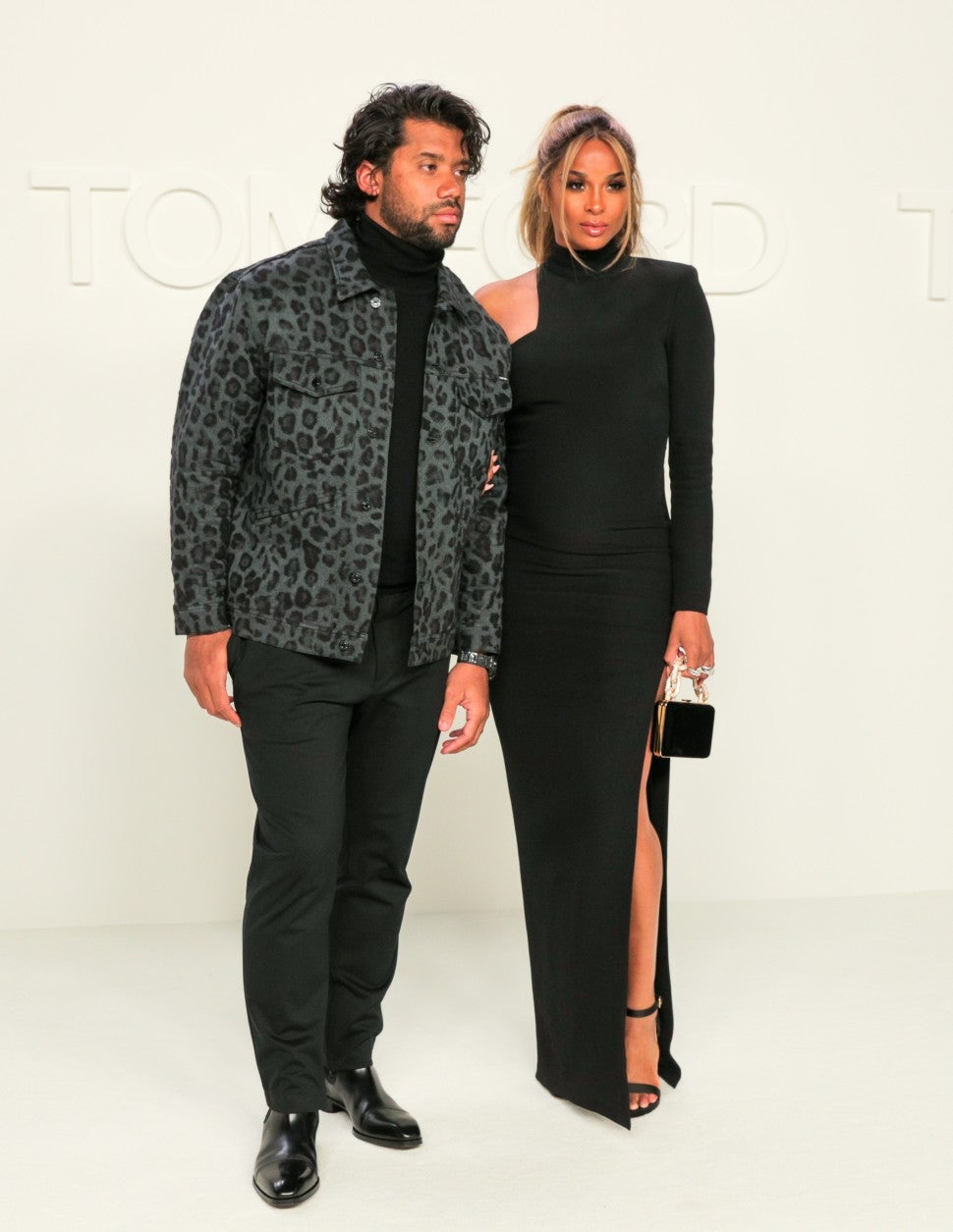Russell Wilson and Ciara at Tom Ford F/W 2020 fashion show