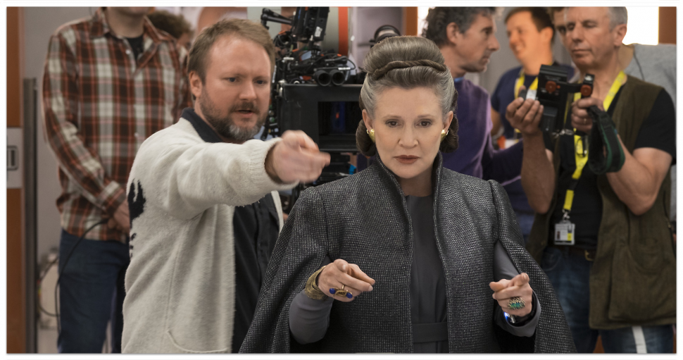 Rian Johnson, Carrie Fisher