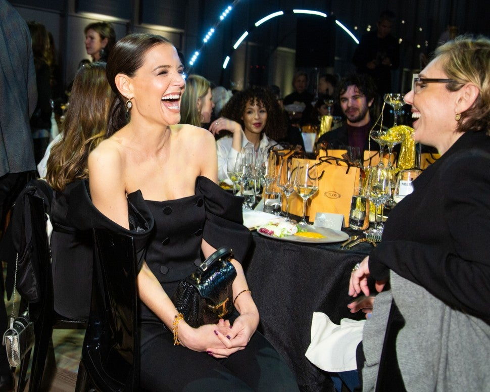 katie holmes at whitney art party
