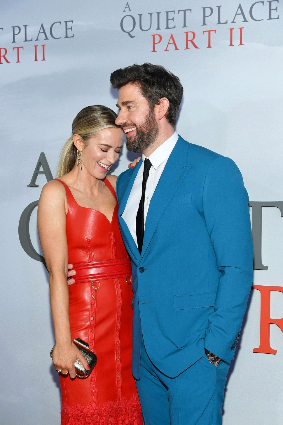 Emily Blunt and John Krasinski at the NYC premiere of 'A Quiet Place Part II' on March 8.