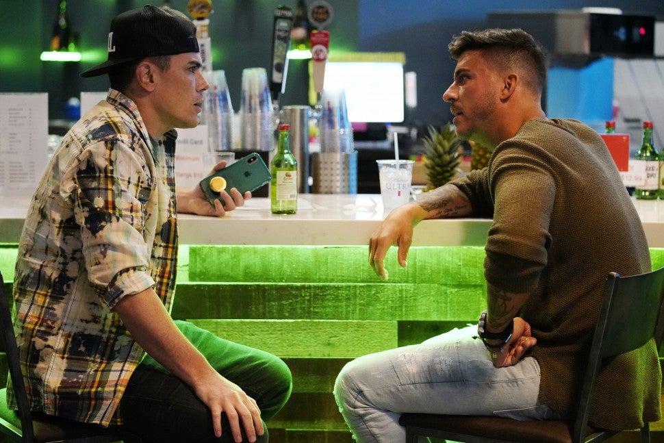 Tom Sandoval and Jax Taylor on Bravo's 'Vanderpump Rules.'