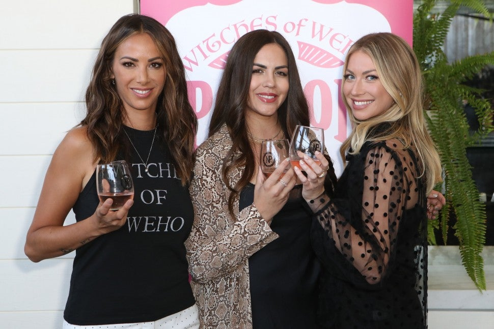Kristen Doute, Katie Maloney-Schwartz and Stassi Schroeder at a Witches of WeHo wine event.