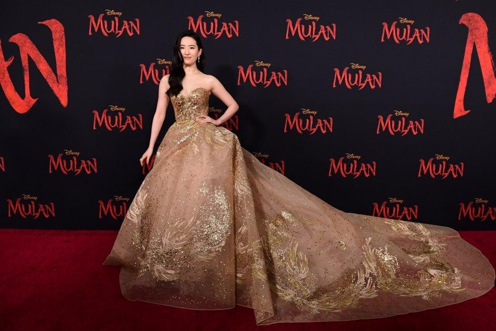 Yifei Liu at Mulan premiere March 2020