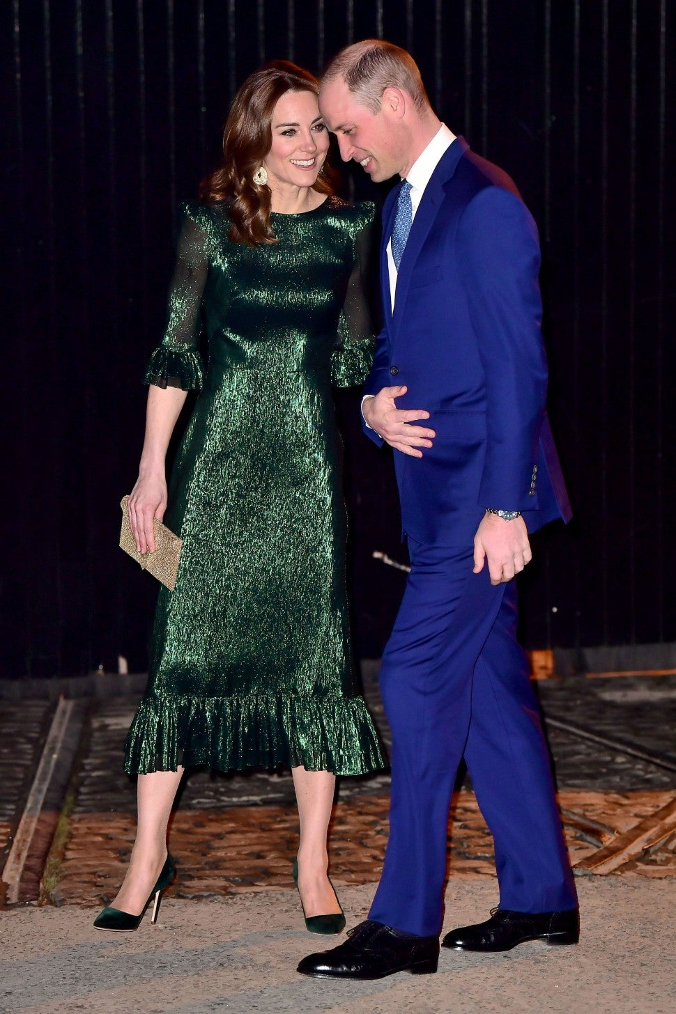kate middleton shows some pda with prince william as she dazzles in ireland kate middleton shows some pda with