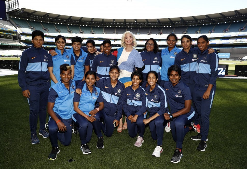 Katy Perry Indian Cricket Team