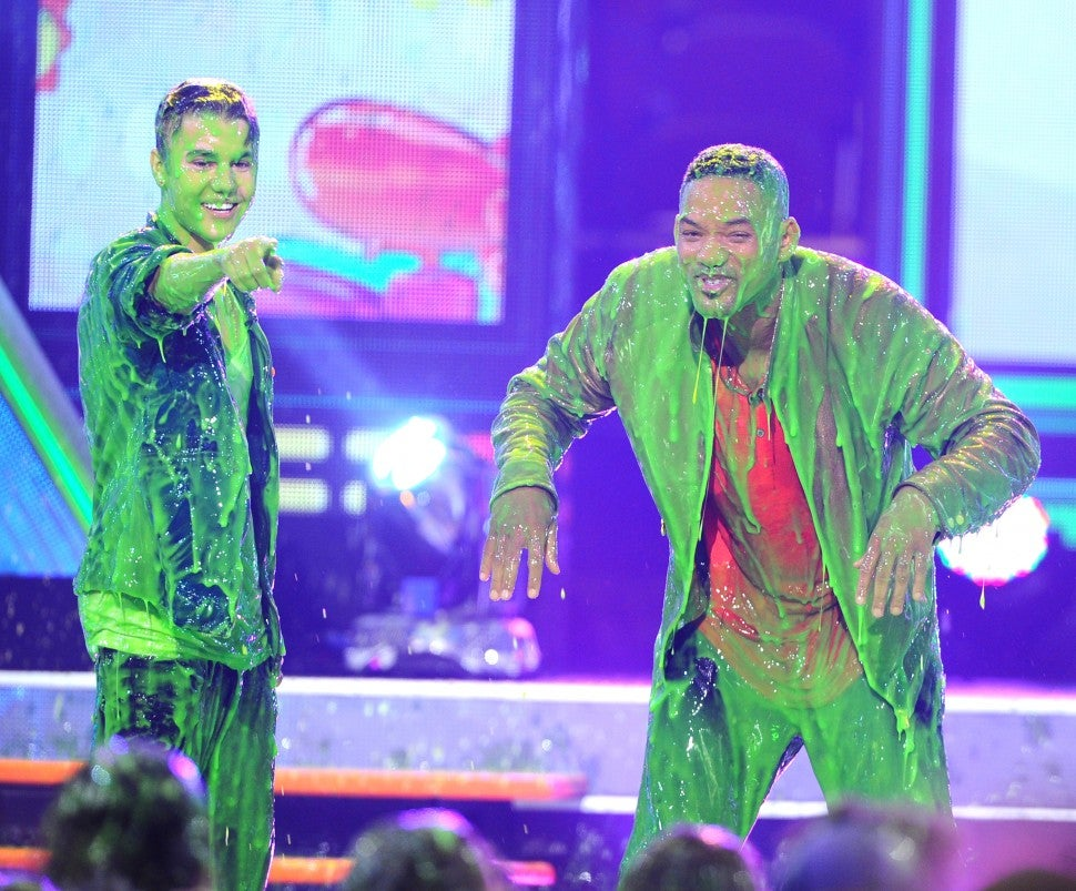 Justin Bieber Will Smith Kids Choice Awards