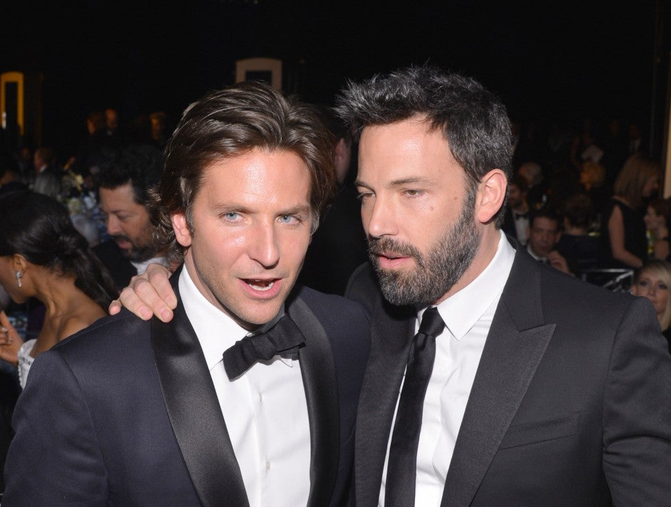Bradley Cooper and Ben Affleck attend the 19th Annual Screen Actors Guild Awards at The Shrine Auditorium on January 27, 2013 in Los Angeles, California.