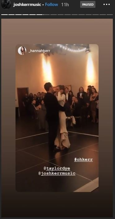 Dye and Kerr Dance During Wedding