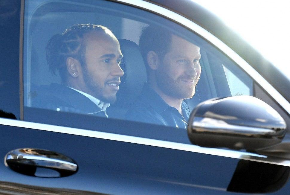 Lewis Hamilton and Prince Harry