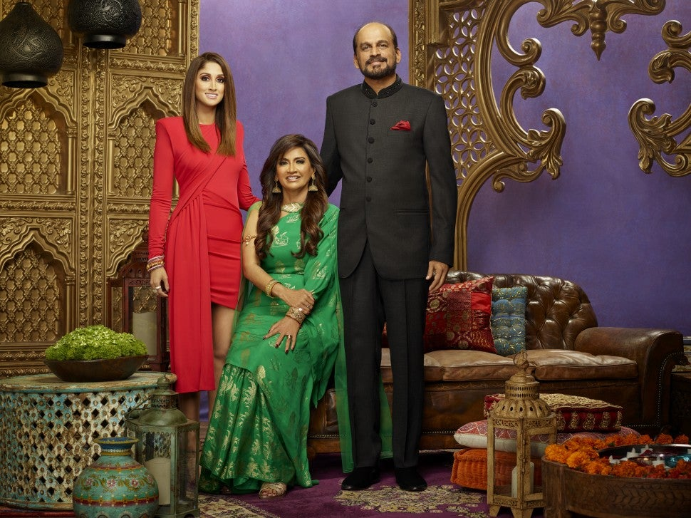Anisha Ramikrishna and her parents.