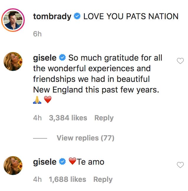 Gisele Bundchen Comments on Tom Brady