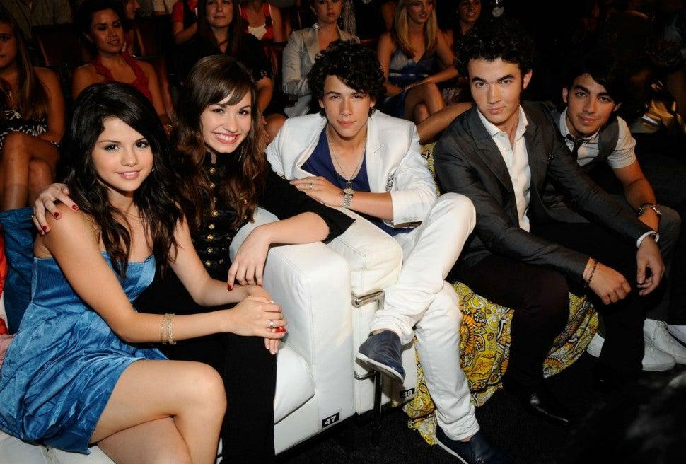 Selena Gomez, Demi Lovato, and Jonas Brothers