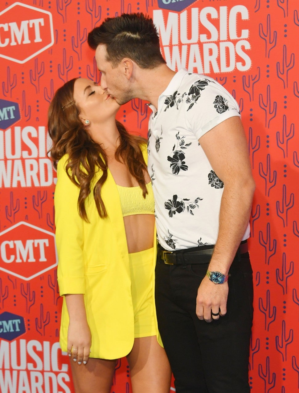 Kailey Dickerson and Russell Dickerson at the 2019 CMT Music Awards