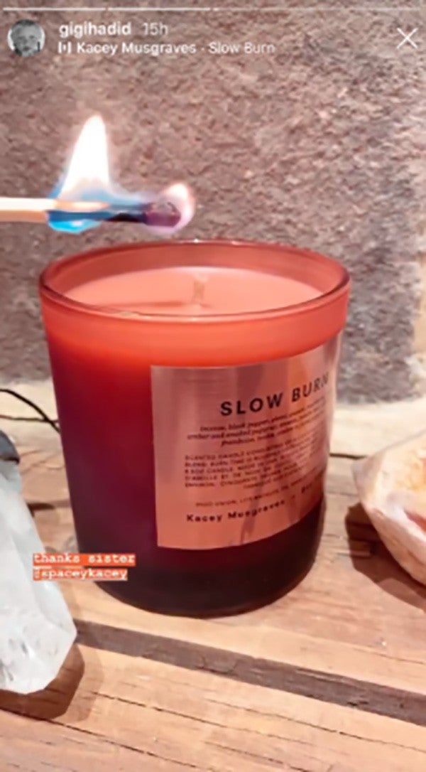 kacey musgraves candle gigi hadid