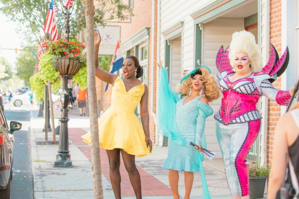 Bob the Drag Queen, Shangela and Eureka O'Hara of HBO's 'We're Here.'