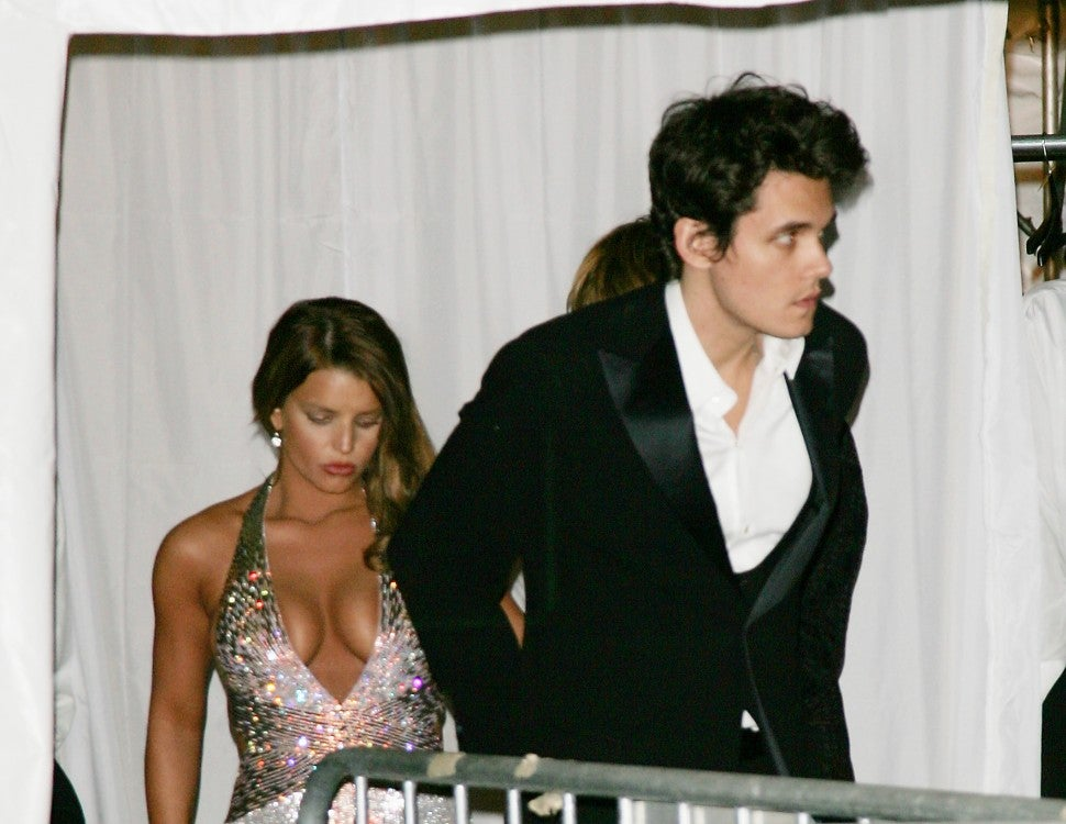 John Mayer and Jessica Simpson leave 2007 met gala