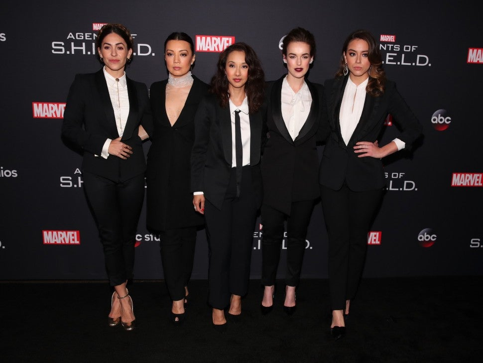 agents of shield Natalia Cordova-Buckley, Ming-Na Wen, Maurissa Tancharoen, Elizabeth Henstridge Chloe Bennet