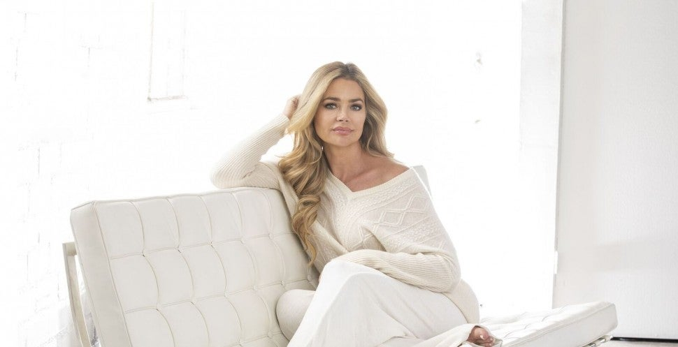 Denise Richards in an ad for her new skincare line, CBMe.