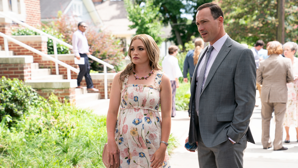 Jamie Lynn Spears and Chris Klein in Netflix's Sweet Magnolias